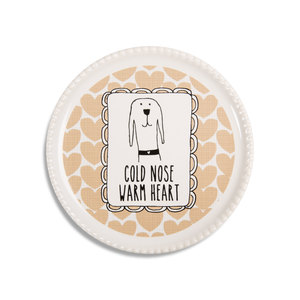 "Warm Heart by It's Cats and Dogs - 3.75"" Coaster Cap"