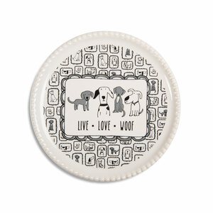 "Live Love Woof by It's Cats and Dogs - 3.75"" Coaster Cap"