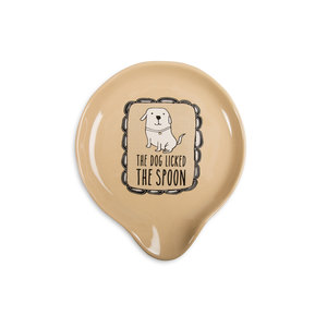 "Dog Licked the Spoon by It's Cats and Dogs - 5"" Spoon Rest"