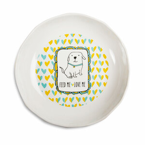 "Dog Feed Me by It's Cats and Dogs - 7"" Shallow Bowl"