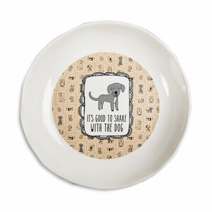 "Share by It's Cats and Dogs - 7"" Shallow Bowl"
