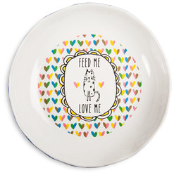 "Cat Feed Me by It's Cats and Dogs - 7"" Shallow Bowl"