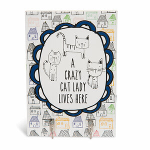 "Crazy Cat Lady by It's Cats and Dogs - 5"" x 7"" Wall Hooks"