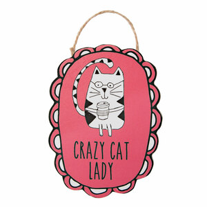 "Crazy Cat Lady by It's Cats and Dogs - 4"" Ornament with Magnet"