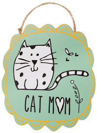 "Cat Mom by It's Cats and Dogs - 4"" Ornament with Magnet"