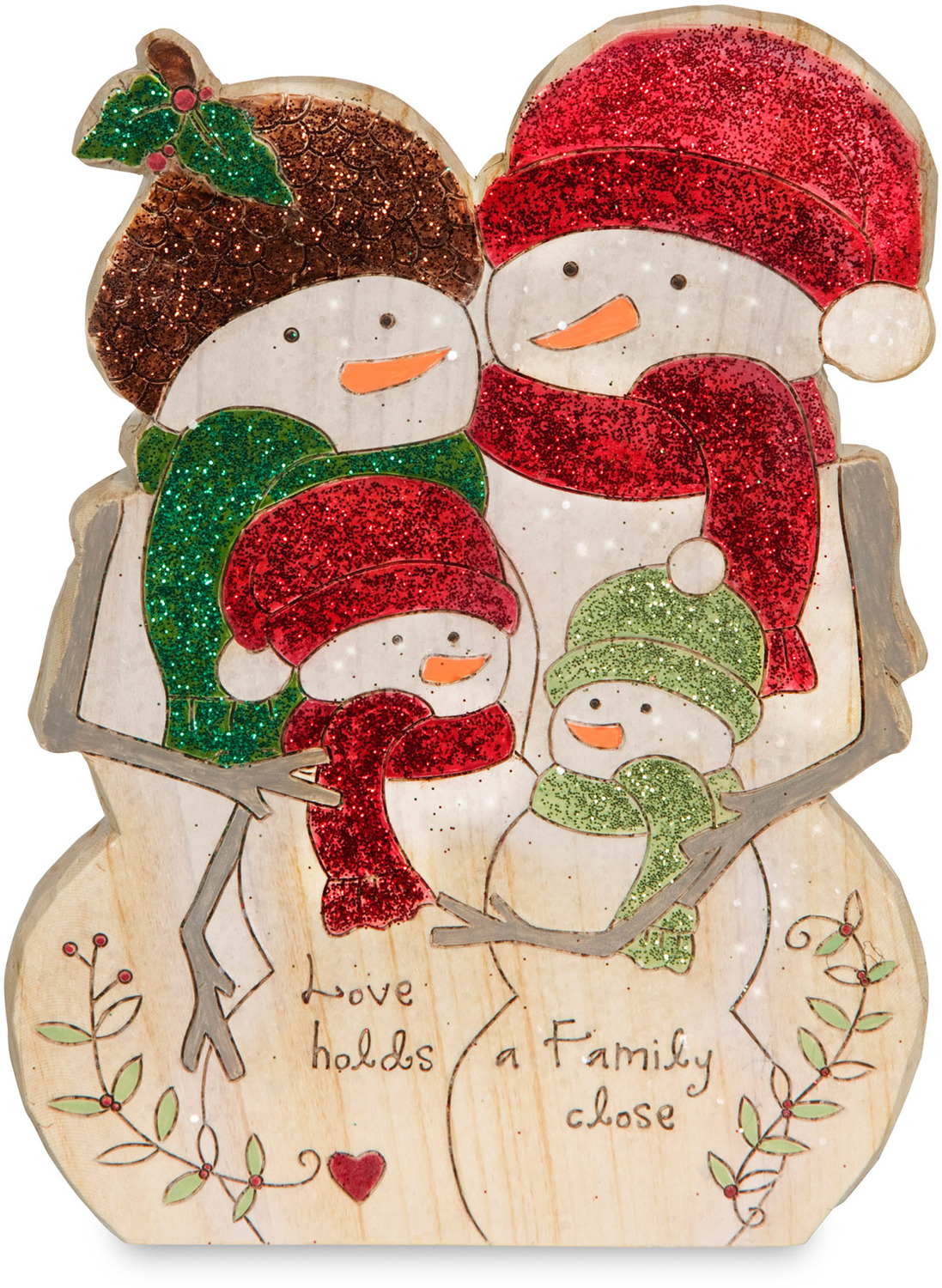 "Family by Heavenly Winter Woods - Family - 6"" Snowman Family Figurine/Carving"
