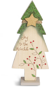 "Joy by Heavenly Winter Woods - 6.5"" Self-Standing Tree"