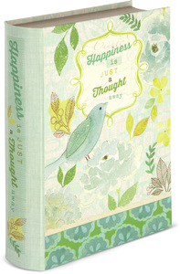 "Happiness by Vintage by Stephanie Ryan - 6.5"" x 2"" x 8.5"" Musical Book Box"