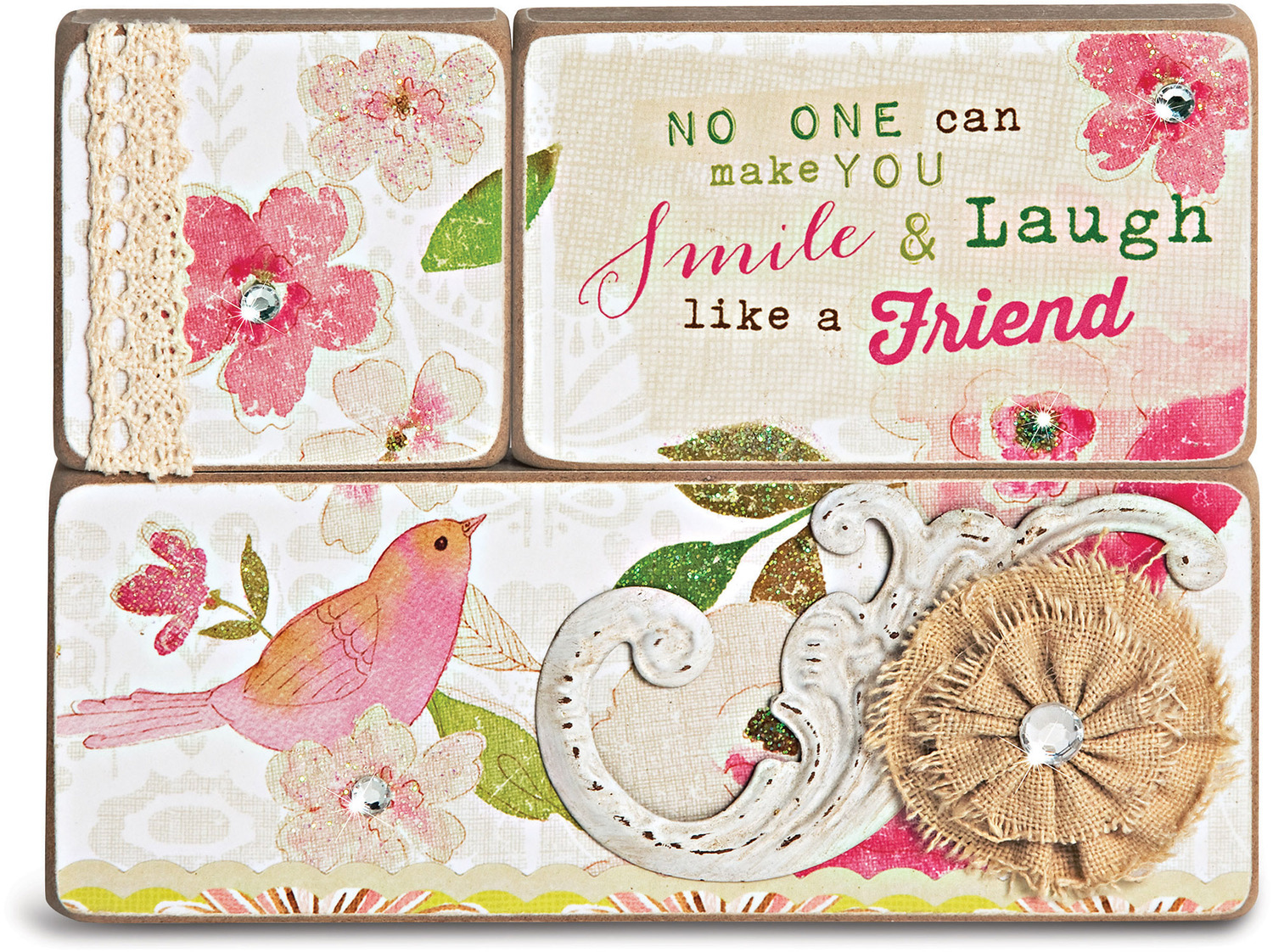 Friends by Vintage by Stephanie Ryan - Friends - 3 Piece Plaque Set