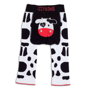 Black and White Cow by Izzy & Owie - 12-24 Month Baby Leggings