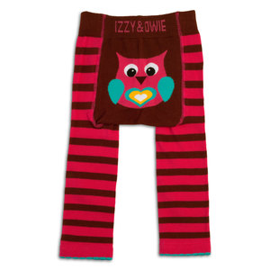 Pink and Brown Owl by Izzy & Owie - 6-12 Month Baby Leggings