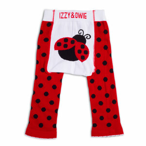 Red and Black Ladybug by Izzy & Owie - 6-12 Month Baby Leggings