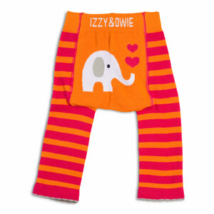 Pink and Orange Elephant by Izzy & Owie - 6-12 Month Baby Leggings