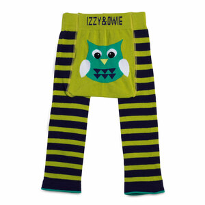 Green and Navy Owl by Izzy & Owie - 12-24 Month Baby Leggings