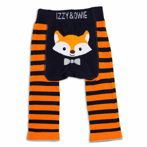 Orange and Navy Fox by Izzy & Owie - 6-12 Month Baby Leggings