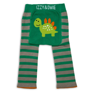 Aqua and Gray Dino by Izzy & Owie - 6-12 Month Baby Leggings