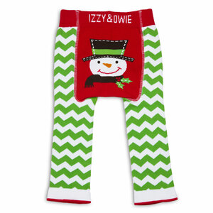 Red and Green Snowman by Izzy & Owie - 6-12 Month Baby Leggings