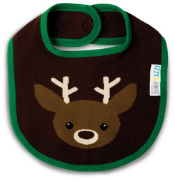 Green and Brown Deer by Izzy & Owie - Baby Bib
