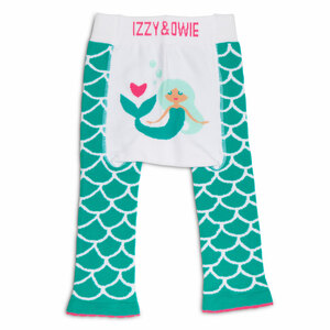 Seafoam Mermaid by Izzy & Owie - 6-12 Months Baby Leggings