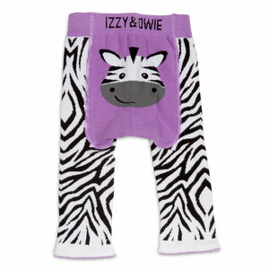 Purple Zebra by Izzy & Owie - 6-12 Months Baby Leggings