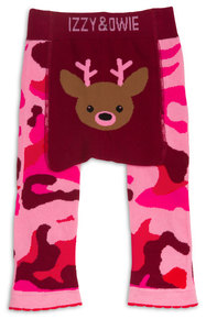 Pink Camouflage Deer by Izzy & Owie - 6-12 Months Baby Leggings