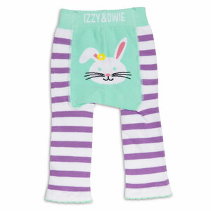 Blue and Lavender Bunny by Izzy & Owie - 6-12 Months Baby Leggings