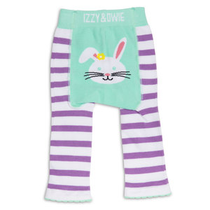 Blue and Lavender Bunny by Izzy & Owie - 12-24 Months Baby Leggings