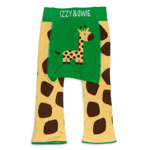 Green and Yellow Giraffe by Izzy & Owie - 6-12 Months Baby Leggings