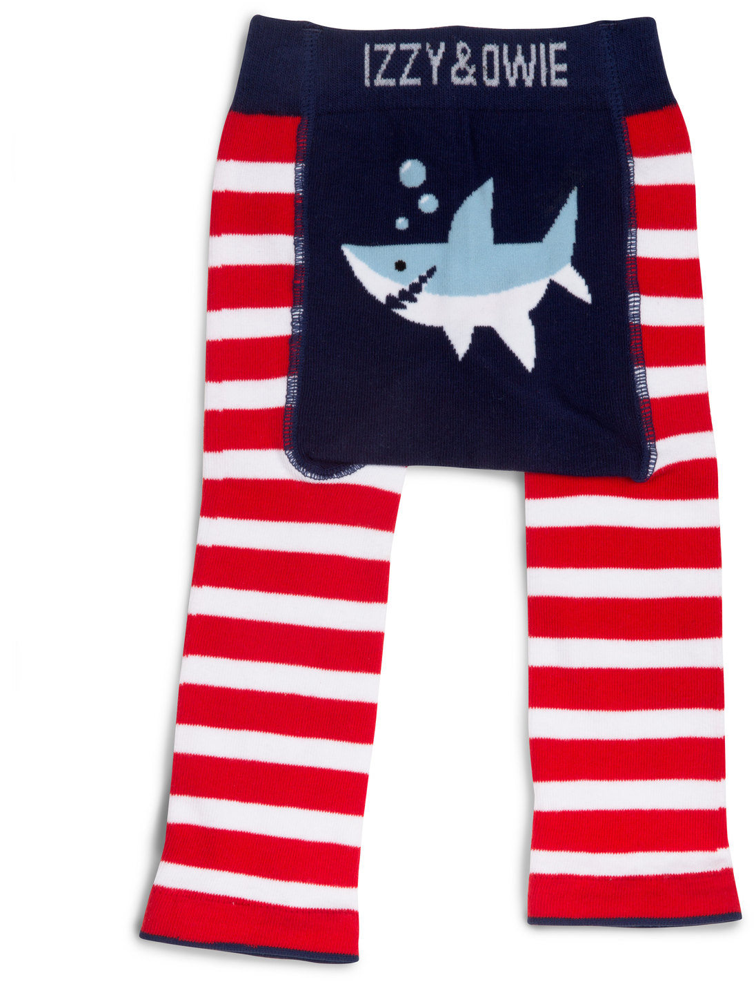 Red and Navy Shark by Izzy & Owie - Red and Navy Shark - 6-12 Months Baby Leggings