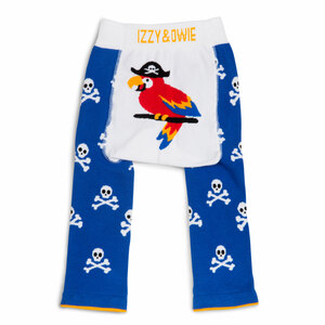 Blue Pirate Parrot by Izzy & Owie - 6-12 Months Baby Leggings