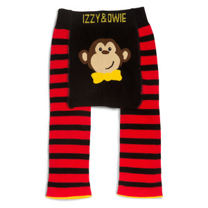 Red and Black Monkey by Izzy & Owie - 6-12 Months Baby Leggings
