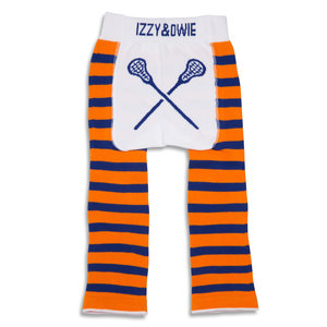 Orange and Blue Lacrosse by Izzy & Owie - 6-12 Months Baby Leggings