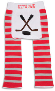 Red and Gray Hockey by Izzy & Owie - 6-12 Months Baby Leggings