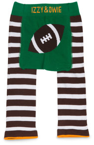 Green and Brown Football by Izzy & Owie - 6-12 Months Baby Leggings
