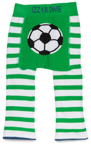 Green and White Soccer by Izzy & Owie - 12-24 Months Baby Leggings