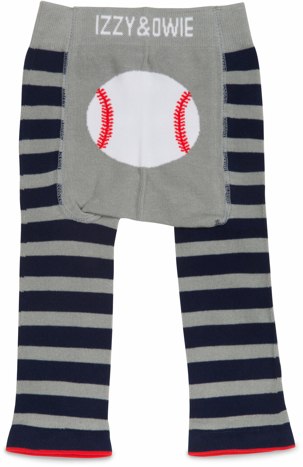 Blue and Gray Baseball by Izzy & Owie - Blue and Gray Baseball - 6-12 Months Baby Leggings