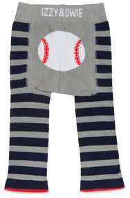 Blue and Gray Baseball by Izzy & Owie - 6-12 Months Baby Leggings