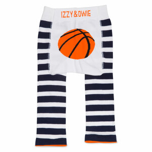 Blue and White Basketball by Izzy & Owie - 12-24 Months Baby Leggings