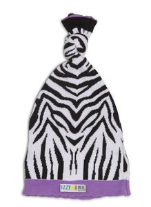Purple Zebra by Izzy & Owie - One Size Fits All Baby Hat