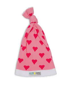 Pink Heart  by Izzy & Owie - One Size Fits All Baby Hat
