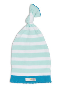 Light Blue Stripe by Izzy & Owie - One Size Fits All Baby Hat
