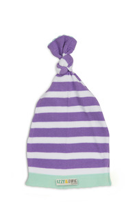 Blue and Lavender Stripe by Izzy & Owie - One Size Fits All Baby Hat
