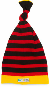 Red and Black Stripe by Izzy & Owie - One Size Fits All Baby Hat