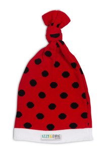 Red and Black Polka Dot by Izzy & Owie - One Size Fits All Baby Hat