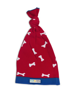 Red and White Bones by Izzy & Owie - One Size Fits All Baby Hat