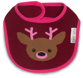 Pink Camouflage Deer by Izzy & Owie -  Baby Bib