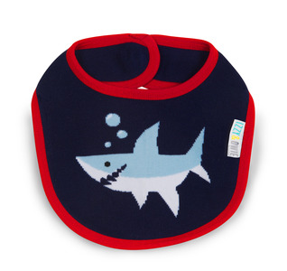 Red and Navy Shark by Izzy & Owie -  Baby Bib