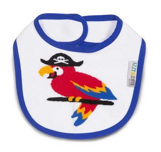 Blue Pirate Parrot by Izzy & Owie -  Baby Bib