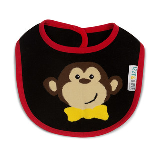 Red and Black Monkey by Izzy & Owie -  Baby Bib