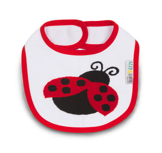 Red and Black Ladybug by Izzy & Owie -  Baby Bib